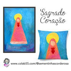 A pintura Sagrado Coração tem poster fine art e almofada na Colab55!