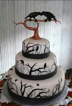 Edgar Allan Poe Raven cake