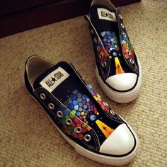 All Stars Converse Muse DIY. Because Muse is  awesome and converse are awesome, so it'd be worth it.
