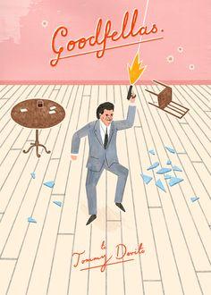 Goodfellas illustration by Owen Gatley (via grain edit) Goodfellas Movie, Tommy Devito, Summer Drawings, Love Film, Alternative Movie Posters, Love Pictures, Film Posters, Great Movies, Illustrations Posters