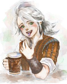 """That blue one! Geralt And Ciri, Ciri Witcher, Witcher Art, The Witcher Game, The Witcher Books, Kid Character, Character Design, Witcher Wallpaper, Pathfinder Rpg"
