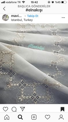 Hardanger Embroidery, Embroidery Patterns, Bargello, Diy And Crafts, Arts And Crafts, Needlework, Hello Kitty, Style Inspiration, Sewing