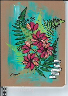 mixed media journal cover love to try this with oil pastels