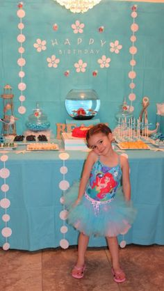 Little mermaid theme birthday party by Angela's Fantasy Creations