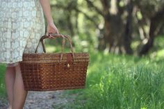 I love packing up breakfast, or lunch, in a pretty basket and going outside for a picnic.