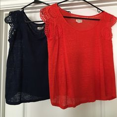 Maison Jules Tops. Navy and orange. Small. Maison Jules Tops. Navy and orange. Small. Lightweight cotton. $15 for bundle. Maison Jules Tops