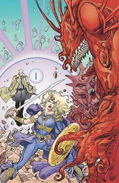 Walt Simonson - Amethyst and John Constantine