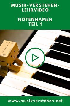 Musik-Verstehen-Lehrvideo. Hier findest du dich auf deinem Klavier zurecht. Super easy und klar! Note, Super, Videos, Easy, Blog, Playing Guitar, Piano, Studying, Blogging