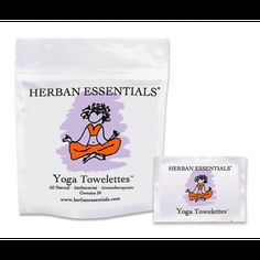 We love Herban Essentials... try their Yoga Bag, towelettes infused with lavender eo.