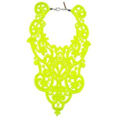A+R Store - Lace Bib Necklace - Neon Product Detail