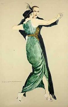 Il  ballo 1920 - cartolina - Marcello Dudovich