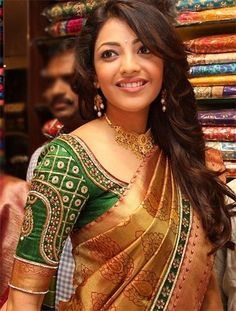 Blouse designs for silk sarees could have brocade, zari work and sequin design in different styles. Let's have a look at few Blouse Designs for Silk Sarees Wedding Saree Blouse Designs, Silk Saree Blouse Designs, Blouse Patterns, Wedding Blouses, Sari Design, Sari Blouse, Saree Belt, Blouse Back Neck Designs, South Indian Blouse Designs