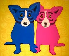 """My New Friend Brings Me Sunshine"" by George Rodrigue. Such a happy image by a wonderful and kind artist."