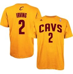 adidas Men's Cleveland Cavaliers Kyrie Irving #2 Gold T-Shirt | DICK'S Sporting Goods