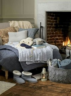 All set in the warmest spot in the house, and a comfortable reading nook . . .