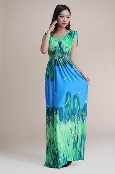 21fe6ce9a3b 2016 Новый стиль высокая талия длинные платья женщины без рукавов широкий  богемский платье Большой размер 3
