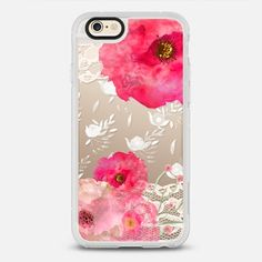 Pink Floral - New Standard iPhone 6 Case in Clear and Clear by Li Zamperini Art | @casetify