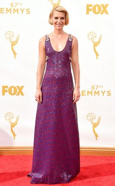 Claire Danes from Best Dressed at the 2015 Emmys  Tonight we learned that chains are going to be the next big thing apparently—And you know what? We can't deny that we're digging the added hardware on this Prada gown.