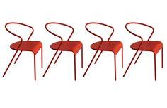 Chaises Miliboo, achat pas cher Chaise design en métal rouge lot de 4 LIFT prix promo Miliboo 279,00 € TTC Prix conseillé : 369€ soit -24%