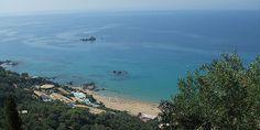 Пляж Пелекас Corfu Island, Beaches, Greece, Explore, Water, Outdoor, Greece Country, Gripe Water, Outdoors