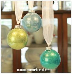 s you might rethink your tree when you see these breathtaking ornaments, christmas decorations, seasonal holiday decor, These glass ones filled with colorful glitter