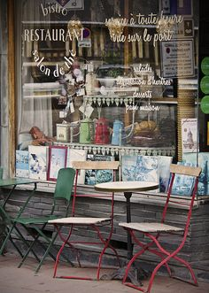 Let's just sit and watch the passers by....Honfleur, Normandy - France