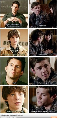 Nobody ever really asked Dean did they.