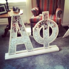 This would be lovely! Phi Mu, Kappa Delta, Alpha Phi Letters, Mirror Letters, Sorority Life, Just Smile, Sweet Life, Girls Wear, College Life