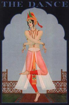 """""""The Dancer,"""" an art deco poster, 1920's"""
