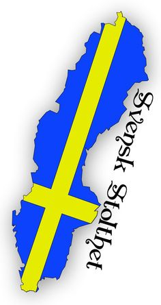 "Swedish flag inside the shape of Sweden - ""Swedish Pride"""
