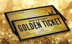 Willy wonka birthday golden ticket birthday invitation golden 7x35 custom birthday golden ticket invitation by leahycreative on etsy 1000 filmwisefo