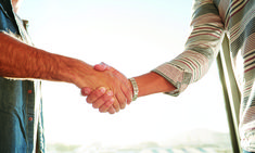 Whether you employ a hand-hug, fist bump or the traditional clamp-and-squeeze, your handshake can say a lot about you. Massage Business, Fist Bump, One Chance, Training Materials, Massage Therapy, Clamp, Get One, Hug, Success