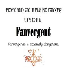 Fanvergent...I love how it has the Percy Jackson, Hunger Games, Divergent, Mortal Instruments, and Harry Potter fandoms at the bottom. :D