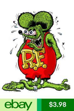 Rat Fink, Ed Roth Art, Garage Art, Tatoo Art, Lowbrow Art, Car Drawings, Big Daddy, Automotive Art, Bumper Stickers