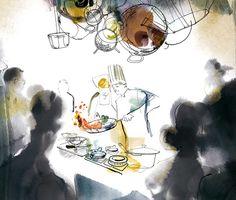 Cooking! Karin Kellner on Behance #showcooking #food #chef