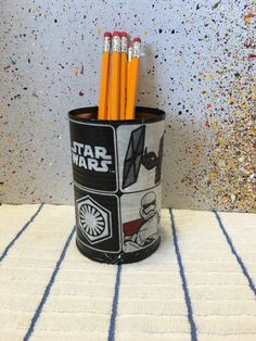 STAR WARS Can Holder/Pencils/Pens/Brushes/Markers/Flowers/Toys/Candy/Money/Gift Holder by KreationsGalore on Etsy