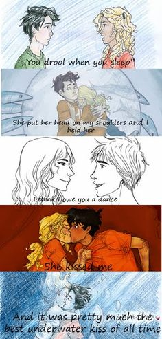 Percabeth is the best thing ever! Though I dont like the middle sketch