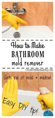 Get rid of mold and mildew in the bathroom for good with this easy DIY household cleaner. This is the best bathroom mold remover I've ever used! diy bathroom Mold and Mildew Remover House Cleaning Tips, Diy Cleaning Products, Deep Cleaning, Cleaning Supplies, Diy Home Cleaning, Cleaning Solutions, Spring Cleaning, Bathroom Mold Remover, Mold In Bathroom