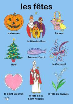 Poster - Les Fêtes - Little Linguist