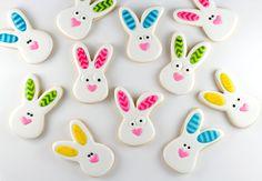 Bunny Cookies with Chevron Ears - via The Bearfoot Baker
