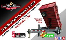 The BWise Ultimate Dump Trailer is now available with Axles and a GVWR. Horse Barn Plans, Dump Trailers, A 17, Innovation, How To Plan, Building, Cargo Trailers, Weights, Dump Trucks