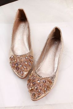 shoes - http://zzkko.com/n177876-J-2013-new-Korean-version-of-sweet-home-within-the-higher-diamond-beaded-flat-with-flat-pointed-shoes-womens-singles.html $14.83