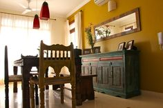Home is where the art is: Upasana & Deb's penthouse in Gurgaon  Pinned by The Tiger's Armoire Luxury Goods for Adorning Home and Body www.facebook.com/TheTigersArmoire http://monsoondreamer.blogspot.com