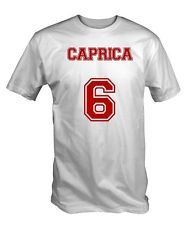 Caprica 6 T Shirt Tee Tshirt BSG Galactica Battlestar sci fi cylon number six
