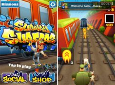 Subway Surfer- a beautifully animated, temple run styled game. It features a group of young kids who for some reason love to deface these trains with spray paint. When you are caught by security not only do you have to out run them but you must dodge, walls, road blocks, and trains. Along the way you can collect coins to increase your score and items to help you avoid the oncoming traffic. Available for Android and iOS