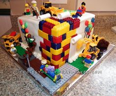 Awesome Lego Cake for Kids ...This website is the Pinterest of birthday cakes