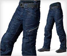 #BMW Motorcycle Denim #pants for #men with knack of adventure. It has in-built knee protectors & more...