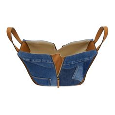 Loewe for Women Collection - Loewe – Blue Denim Small Hammock Bag - Small Leather Bag, Leather Pouch, Leather Purses, Leather Wallets, Handmade Handbags, Leather Bags Handmade, Handmade Bags, Denim Bag Patterns, Bag Patterns To Sew