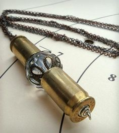 The Joan With Crystal Necklace by Ibby & Rufus on Scoutmob Shoppe. So not into very violence but very into bullet shells.