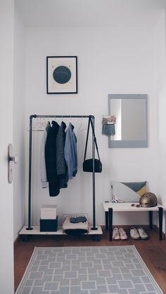 Flur-Gestaltung: Garderobe, Pastellfarben & kleine DIY's. | BILDHÜBSCH